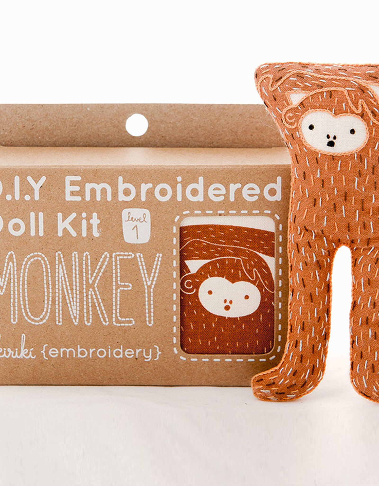 Handmade Embroidery Kit - Monkey