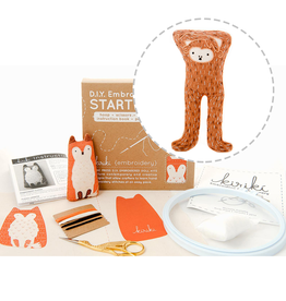 Embroidery Starter Kit - Monkey