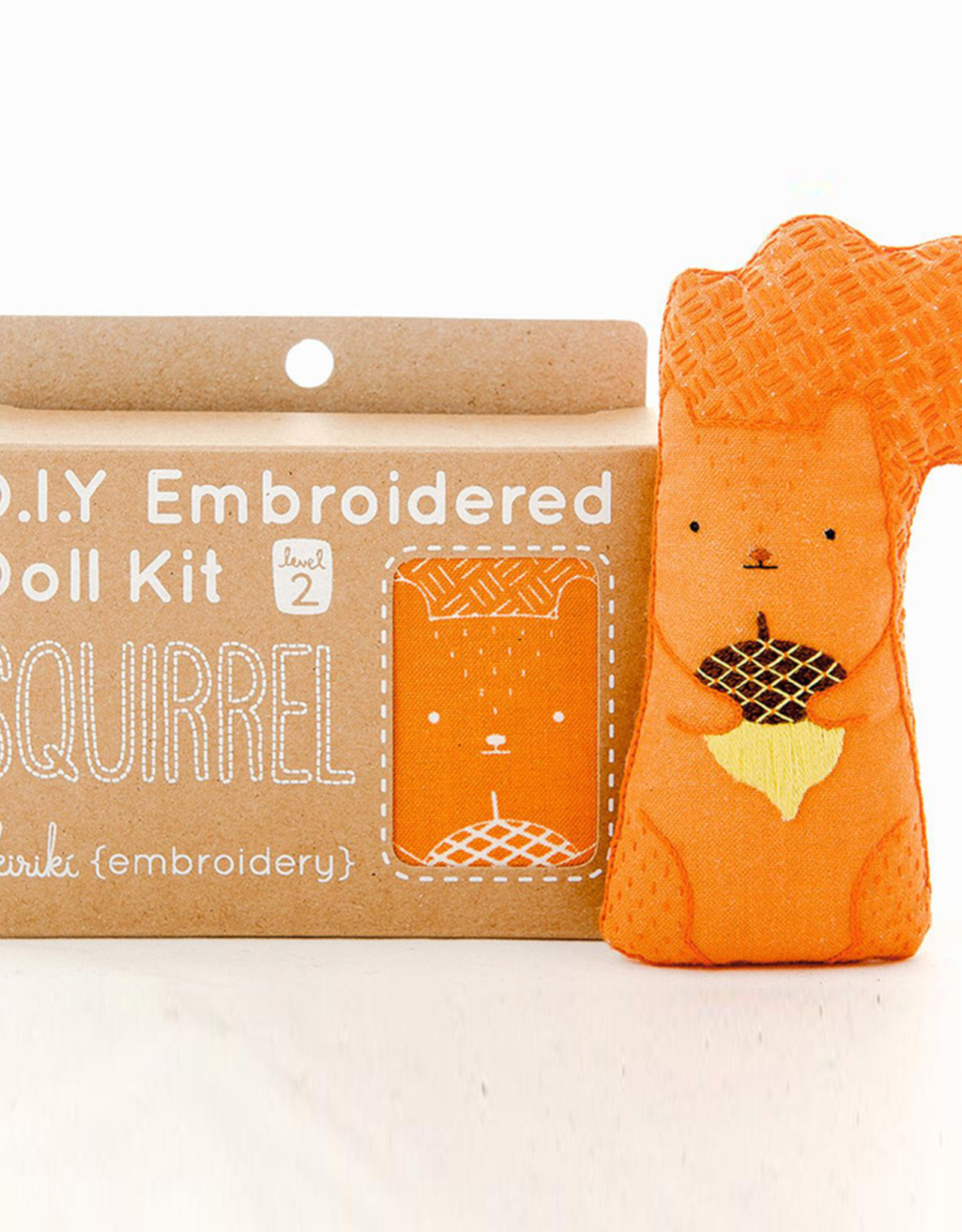 Handmade Embroidery Kit - Squirrel
