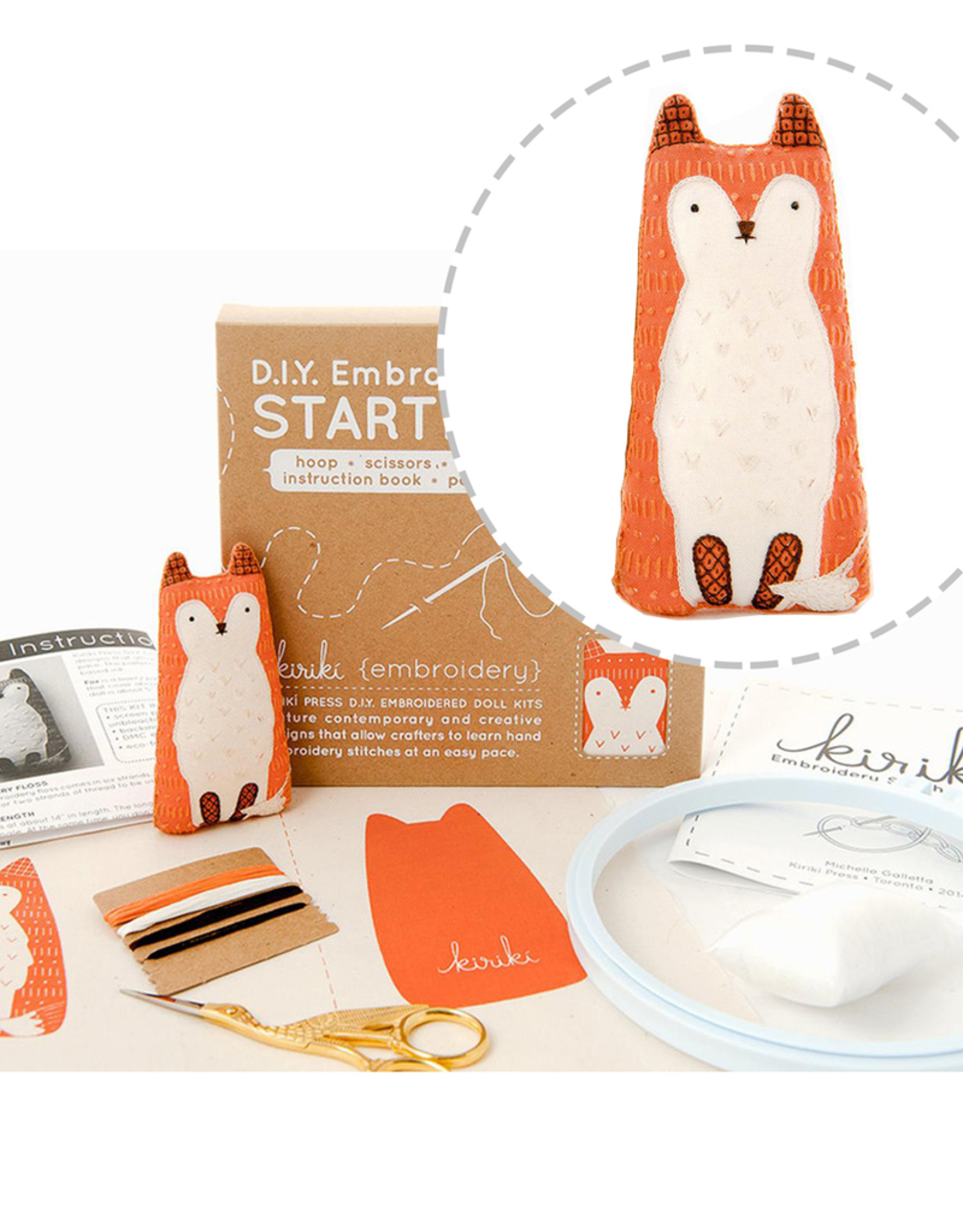 Handmade Embroidery Starter Kit - Fox