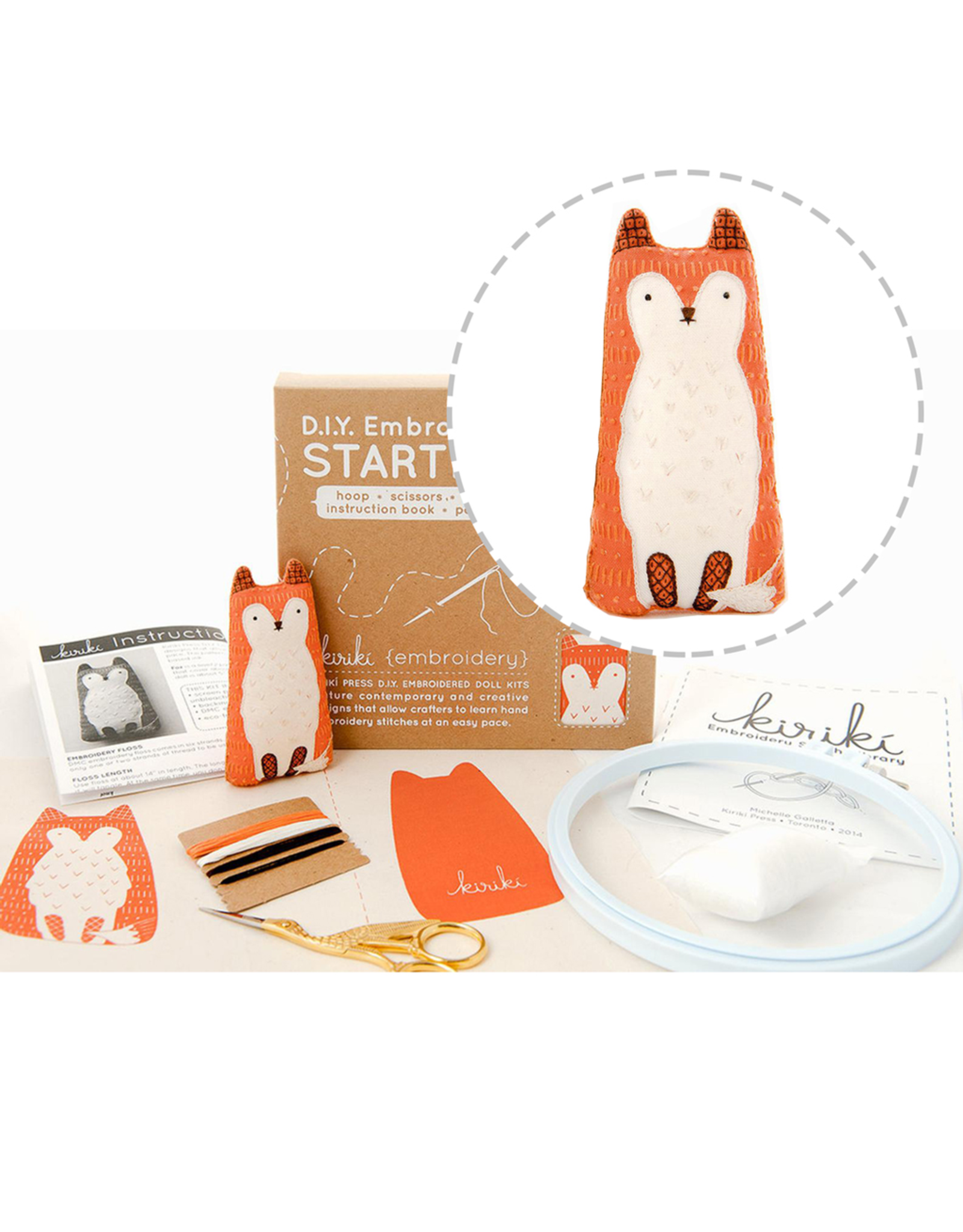 Embroidery Starter Kit - Fox