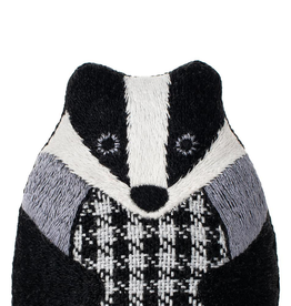 Handmade Embroidery Kit - Badger
