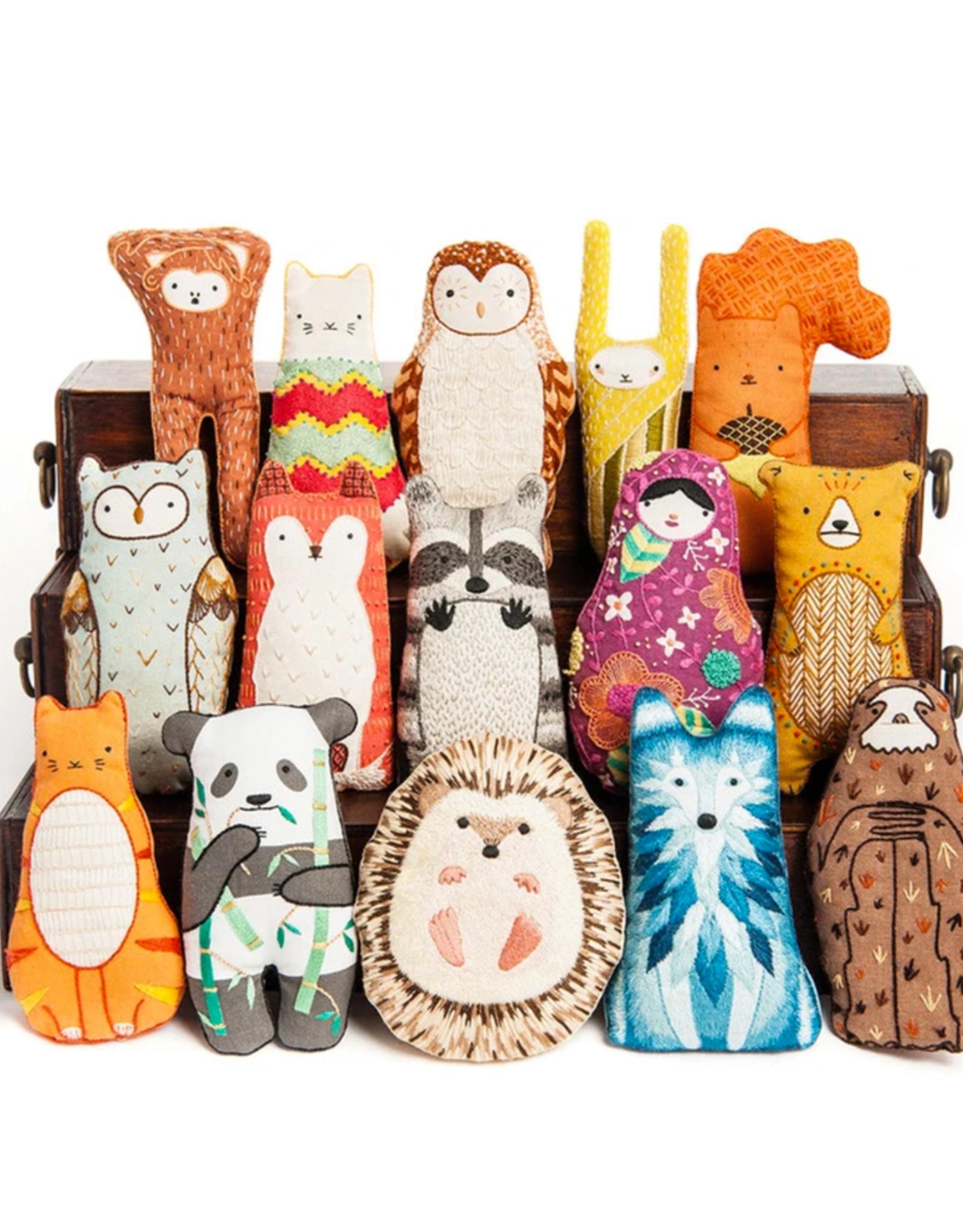 Handmade Embroidery Kit - Badger