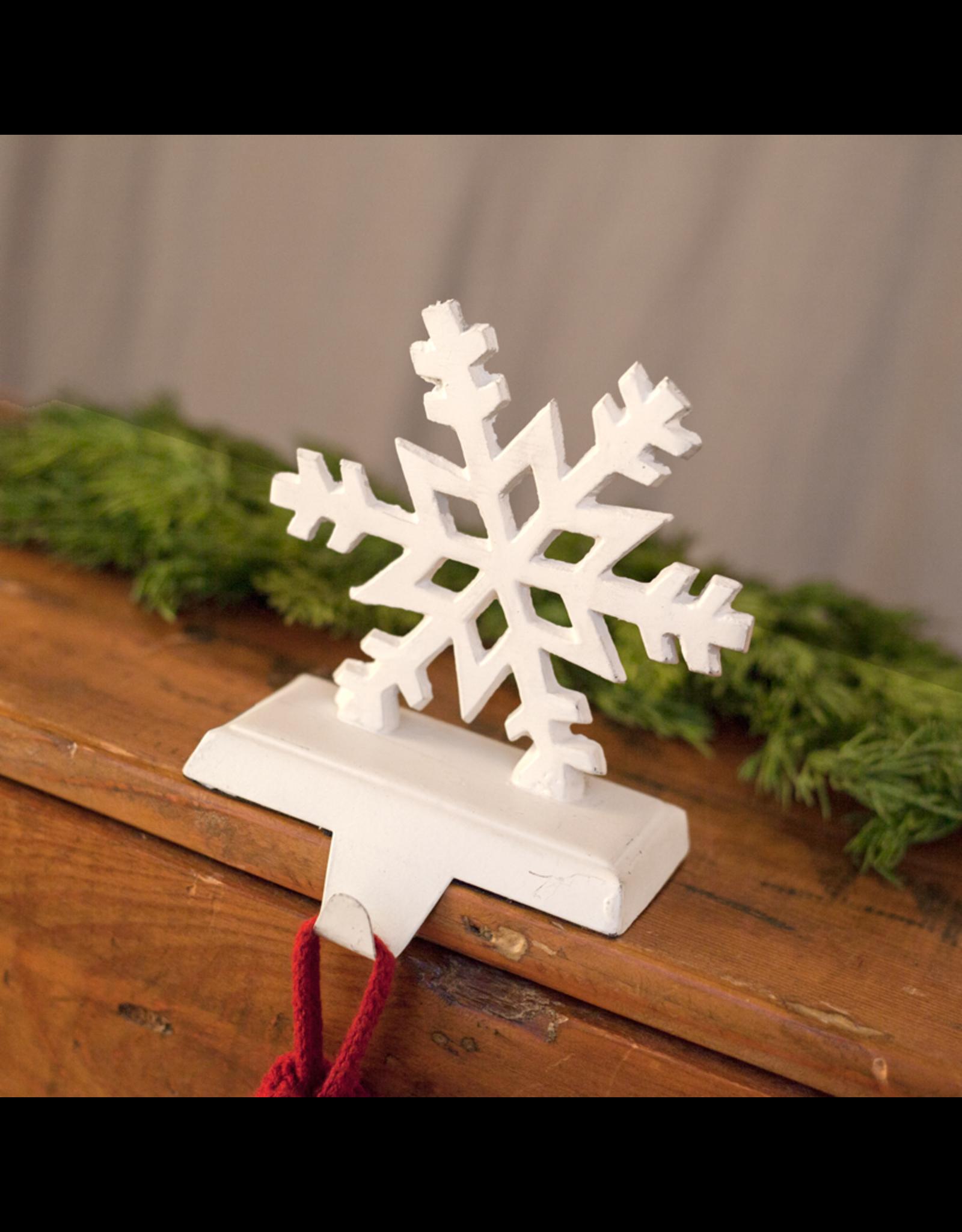 Cast Iron Snowflake Stocking Holder