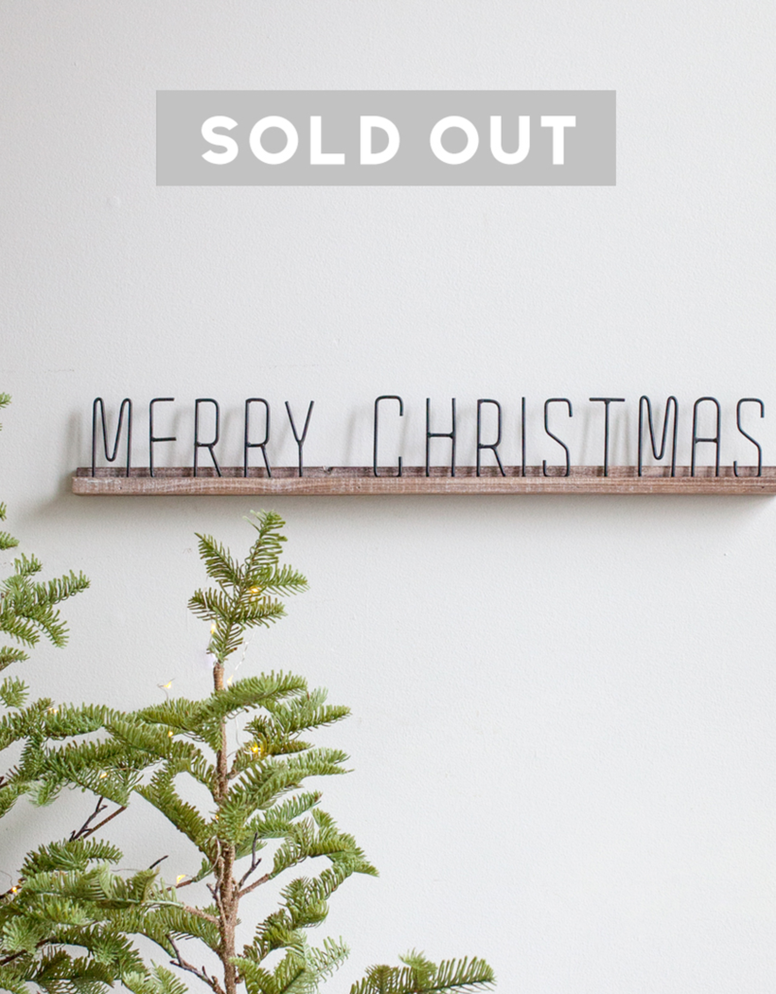 New Wood + Metal Christmas Sign