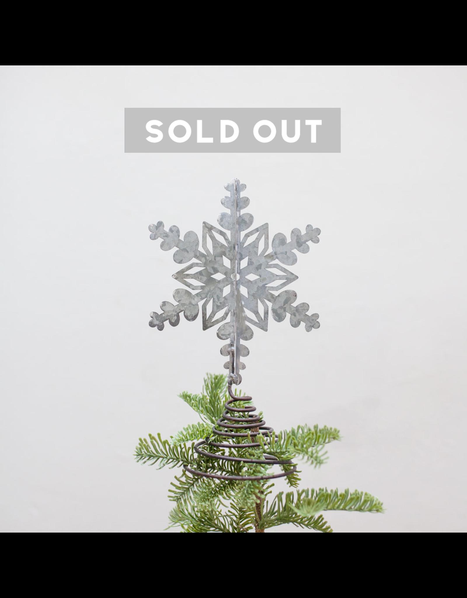 Metal Snowflake Tree Topper