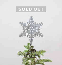 New Metal Snowflake Tree Topper