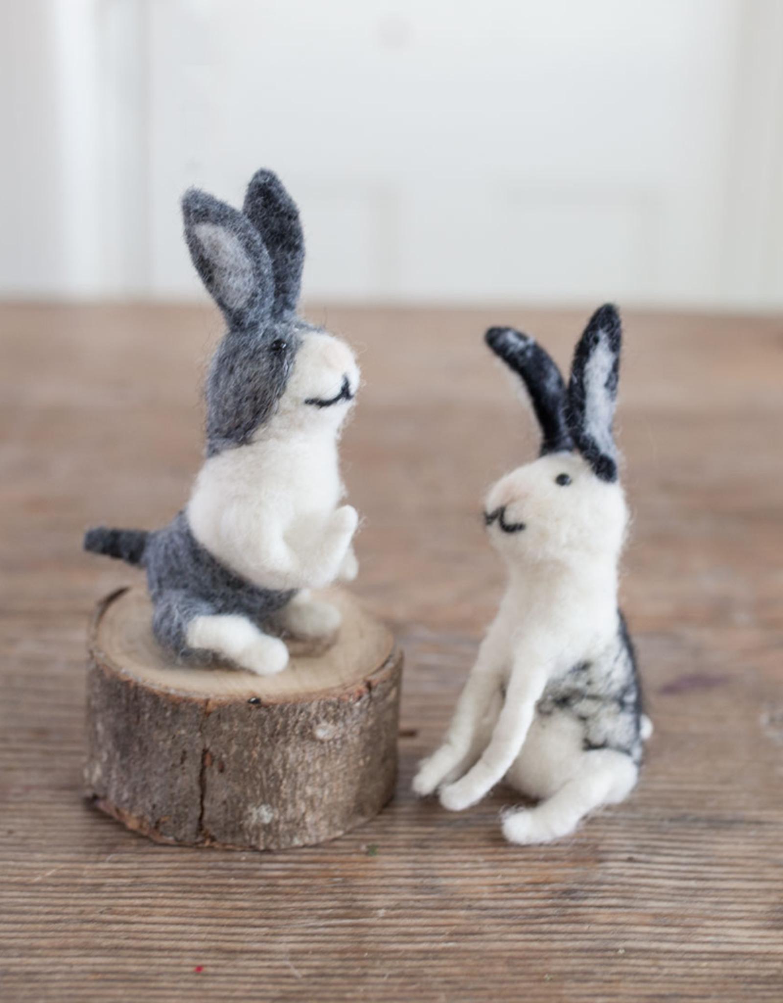 New Felted Wool Rabbit Ornament