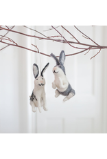 Felted Wool Rabbit Ornament