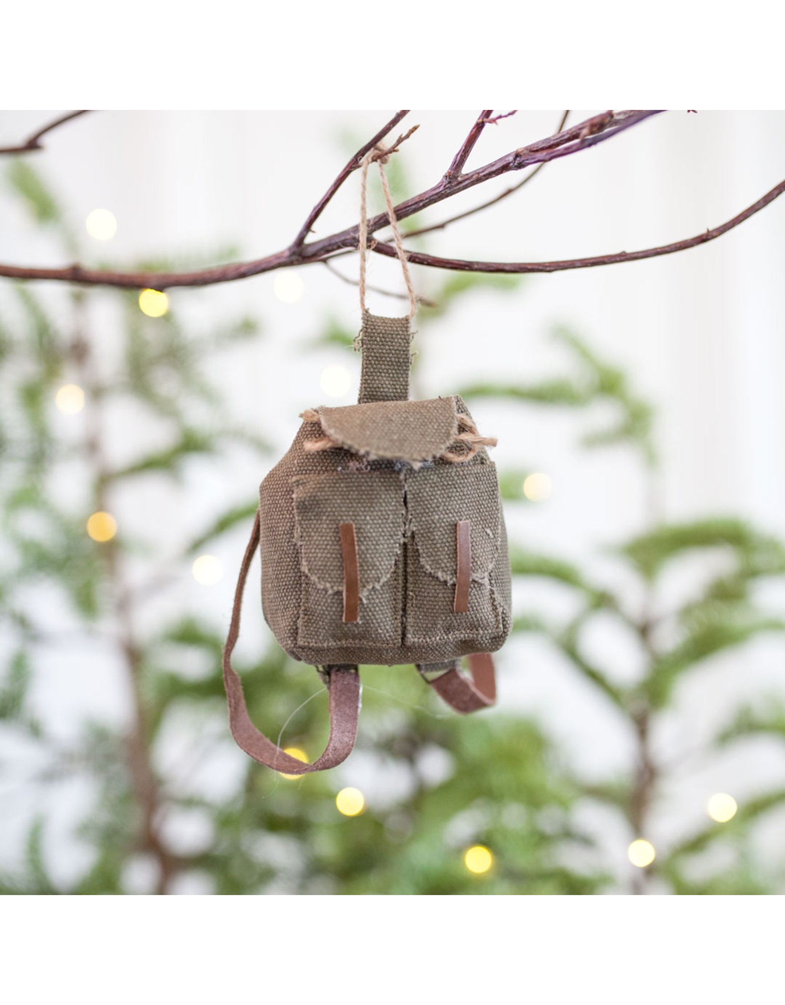Canvas Back Pack Ornament