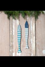 Folky Wood Fish Ornament