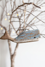 New Driftwood Whale Ornament