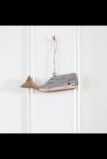 Driftwood Whale Ornament