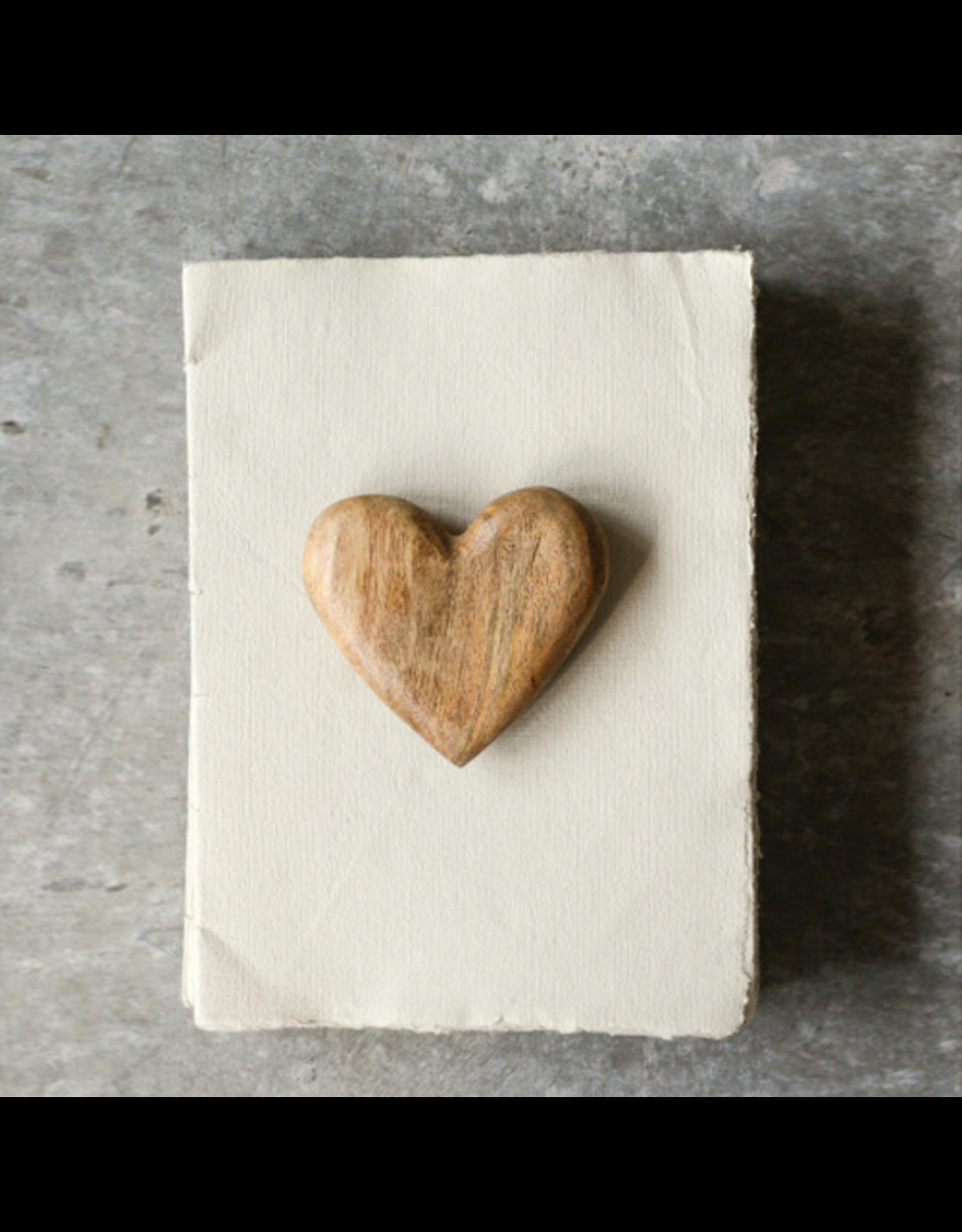 Hand Carved Mango Wood Heart