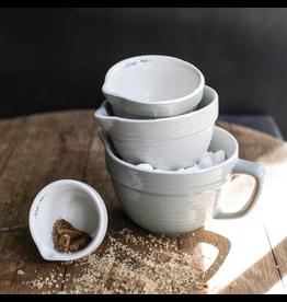 Grey Stoneware Measuring Cups