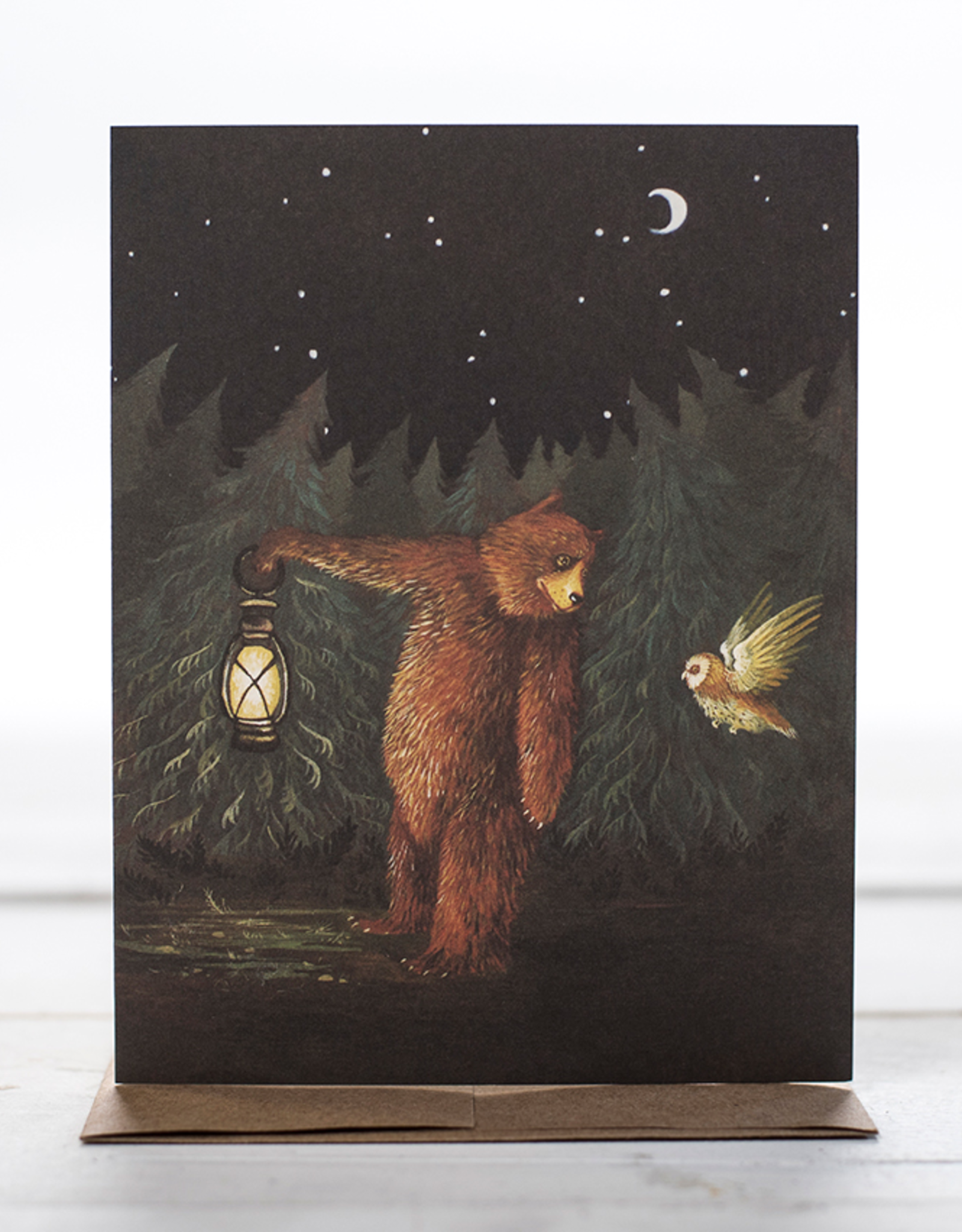 New Card - Bear + Owl Friends