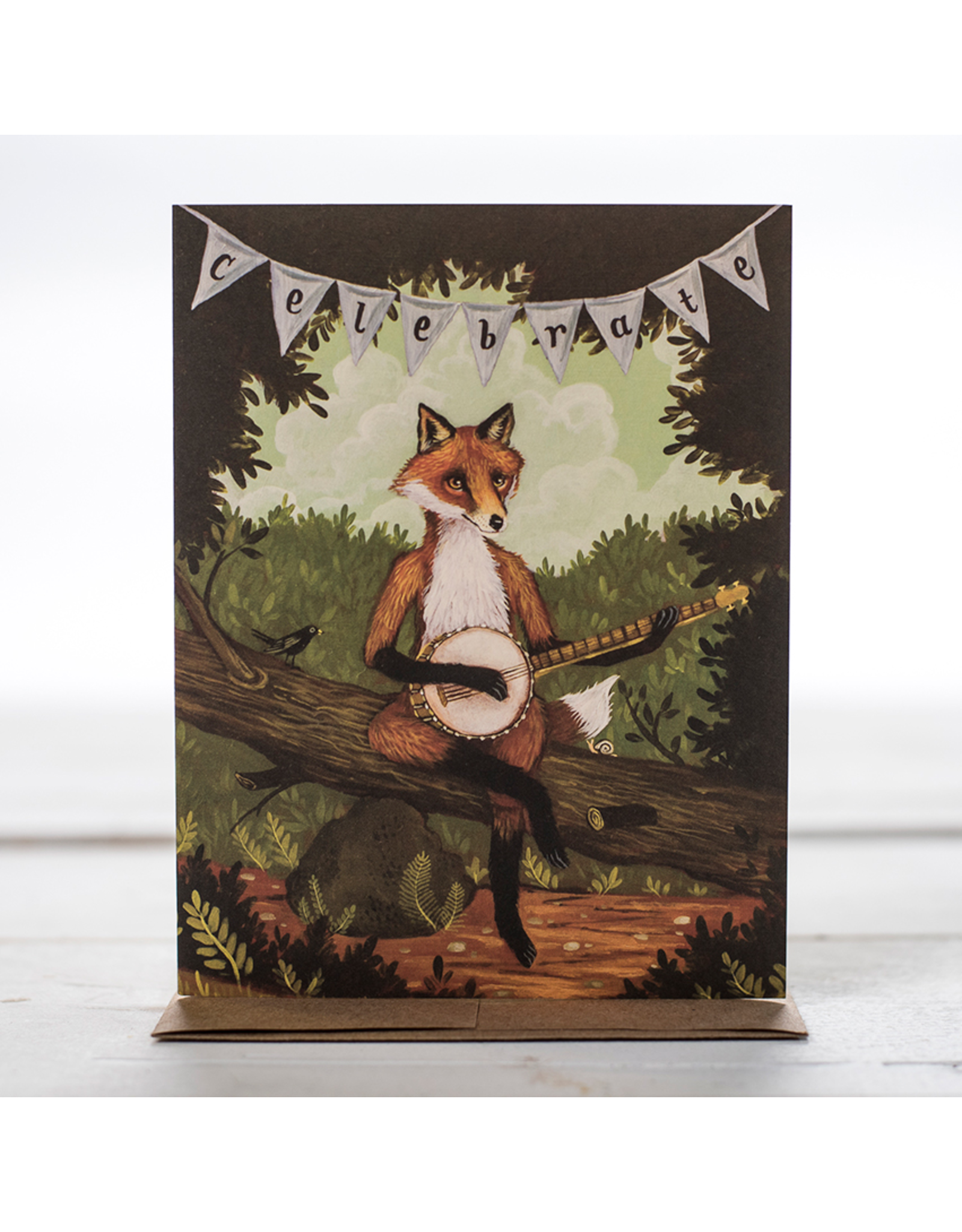 Card: The Fox + The Banjo