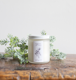 Consigned - handmade Sprig Coconut Wax Candle - Lavender + Lemongrass