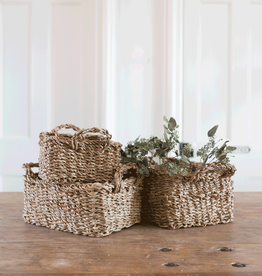 New Rectangular Seagrass Basket
