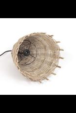 Rustic Rattan Pendant Light