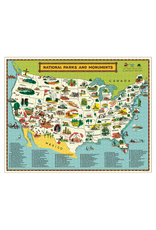 Vintage Inspired Puzzle - National Parks Map