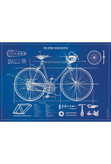 Poster - Bicycle Blue Print