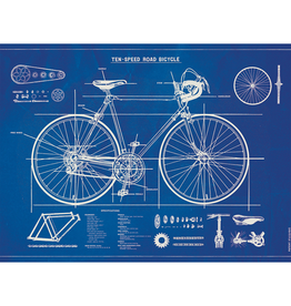 New Poster - Bicycle Blue Print