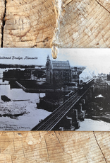 "Consigned - handmade Historical Almonte ""Tin Type"" Ornament - various images"