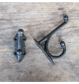 Cast Iron Victorian Style Hook - Black