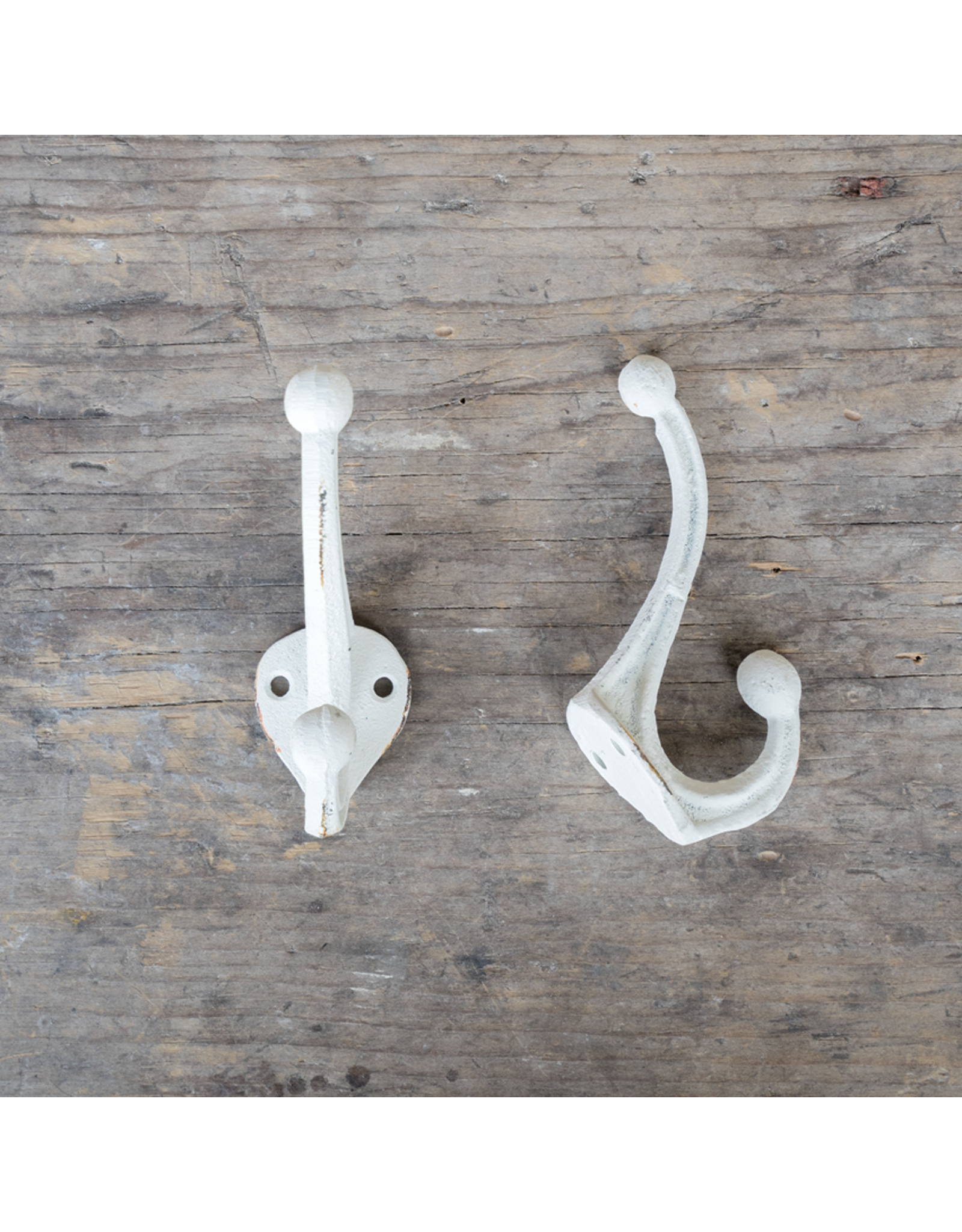Cast Iron Nora Hook - White