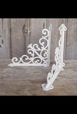 Decorative Scroll Bracket - White