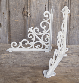 New Decorative Scroll Bracket - White