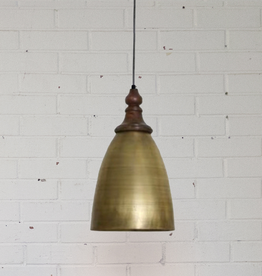 New Turned Brass + Wood Pendant Light