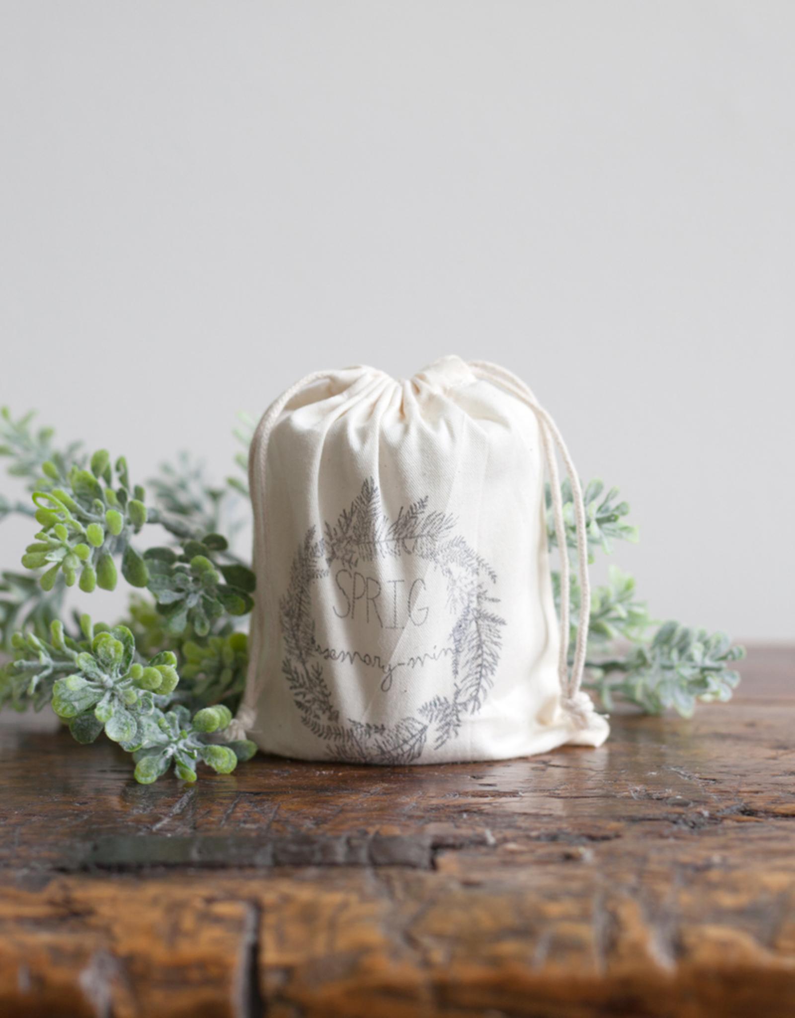 Handmade Sprig Coconut Wax Candle - Rosemary Mint