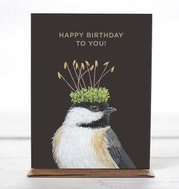 New Card - Birthday Chickadee
