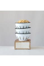 Enameled Metal Berry Bowl