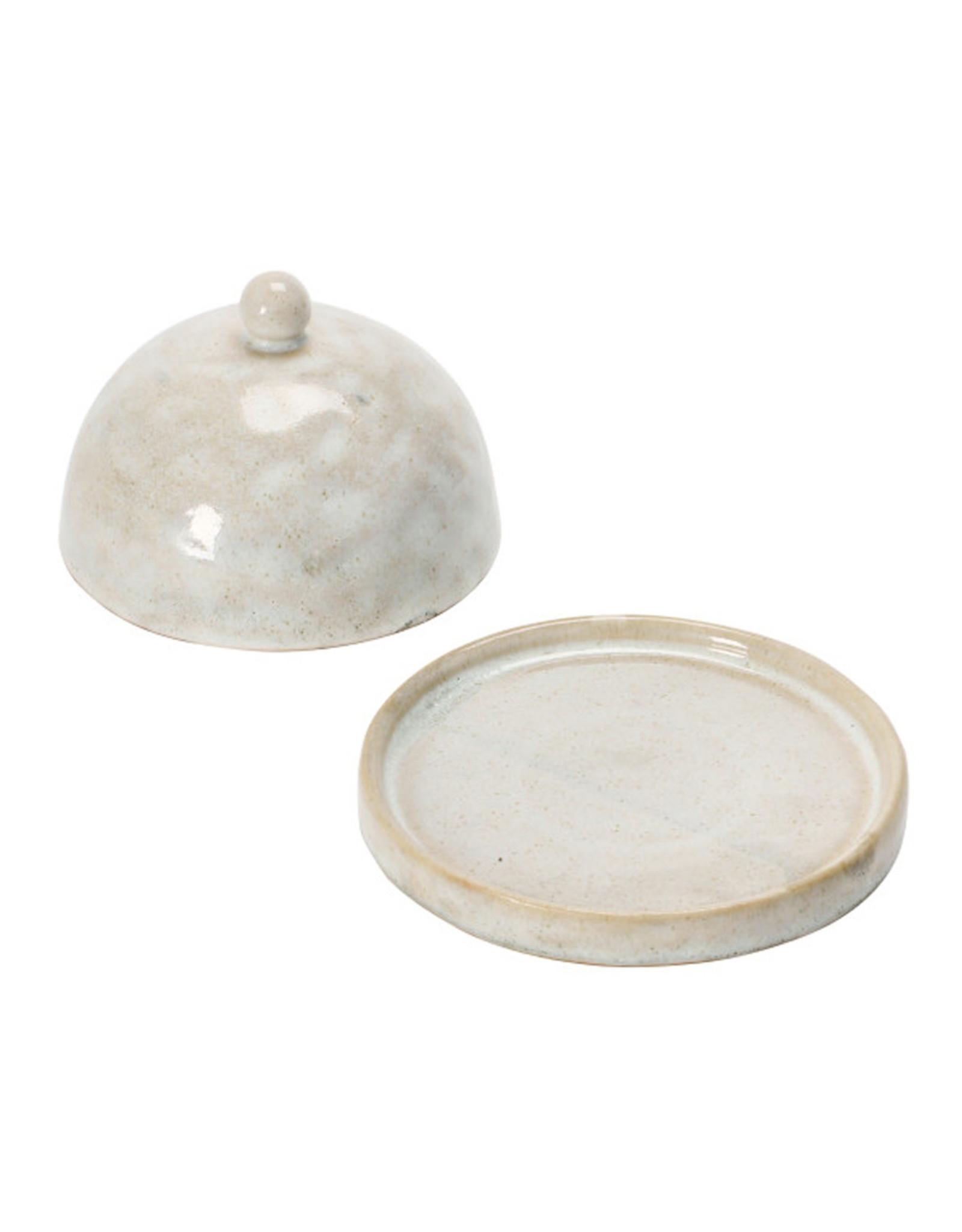 Domed Stoneware Dish