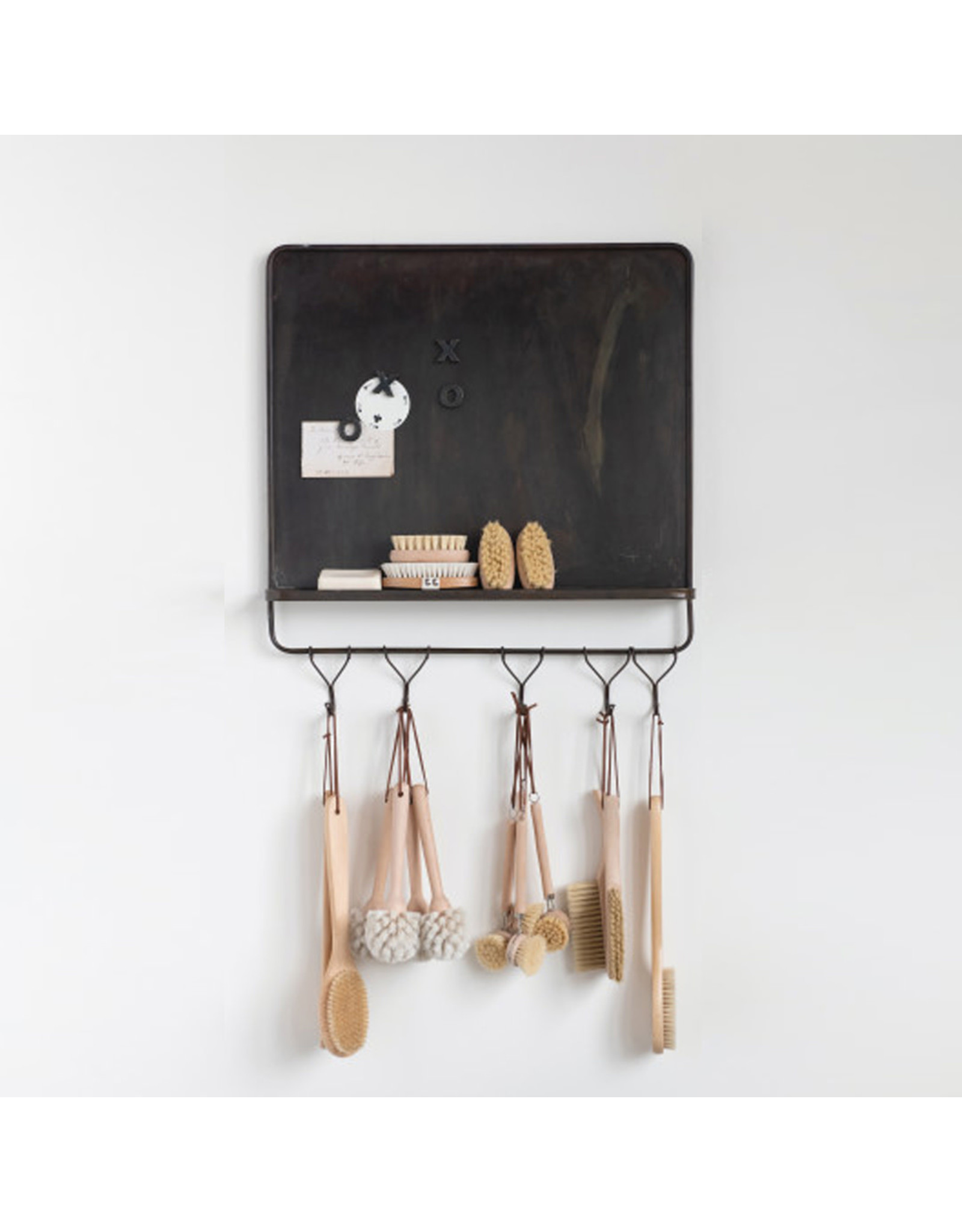 Metal Magnet Wall Board with Hooks