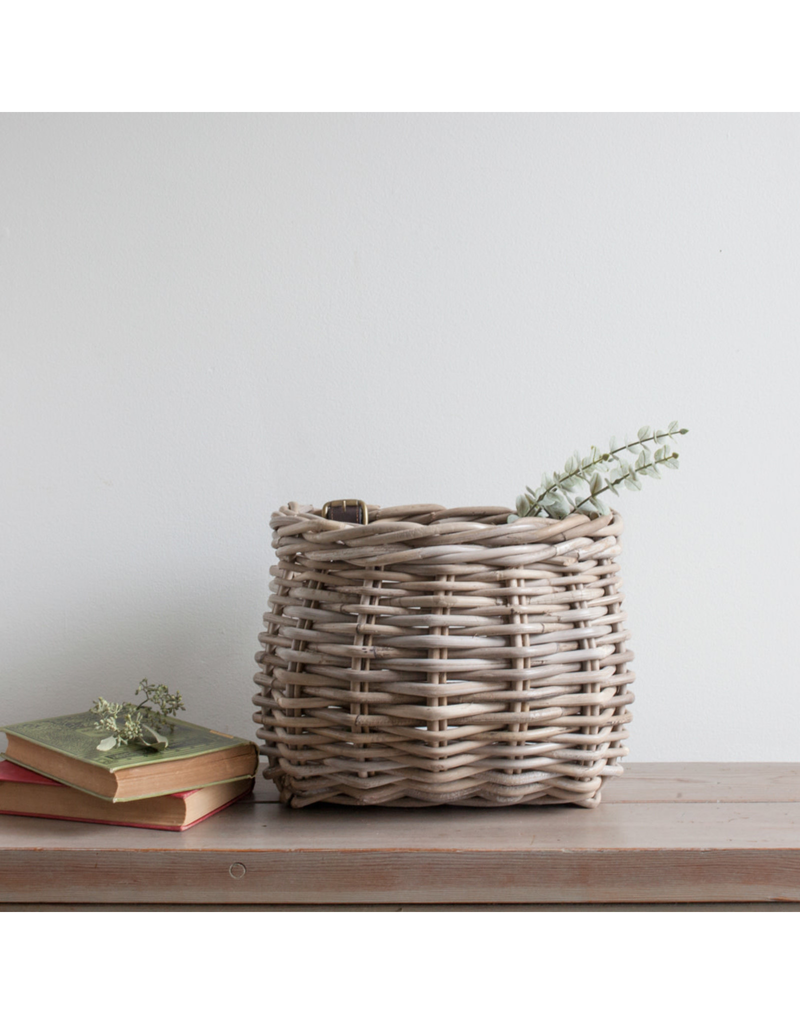Bicycle Basket with Leather Straps