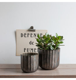 Metal Barrel Planter