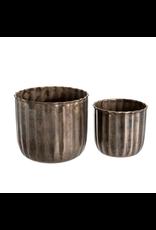 Metal Barrel Planter