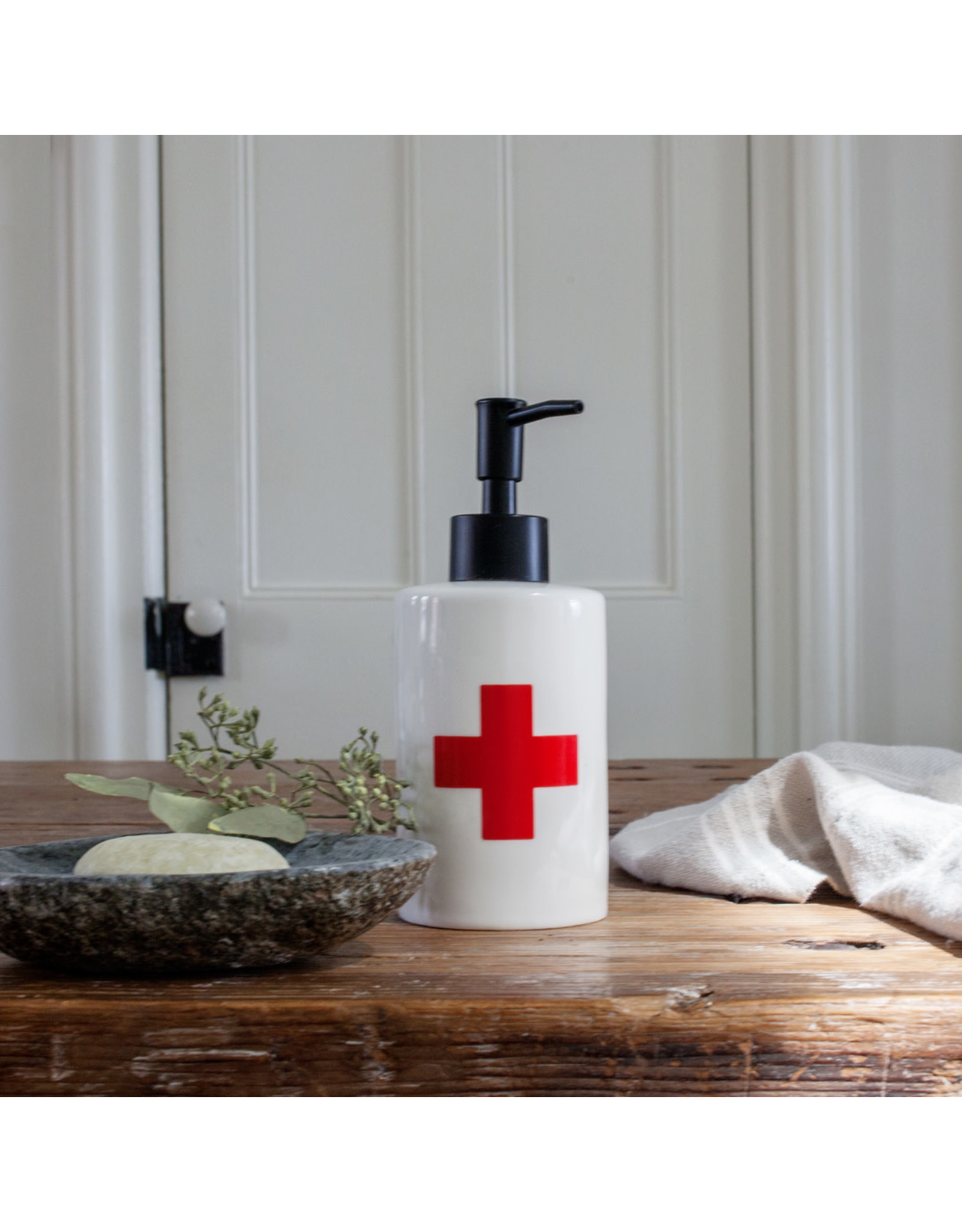 Soap Pump - Red Cross