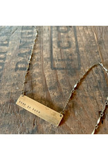 Hand Stamped Necklace - Love is Love