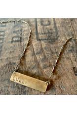 Hand Stamped Necklace - Queen