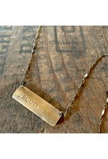 Hand Stamped Necklace - Proud