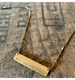 Hand Stamped Necklace - Born This Way
