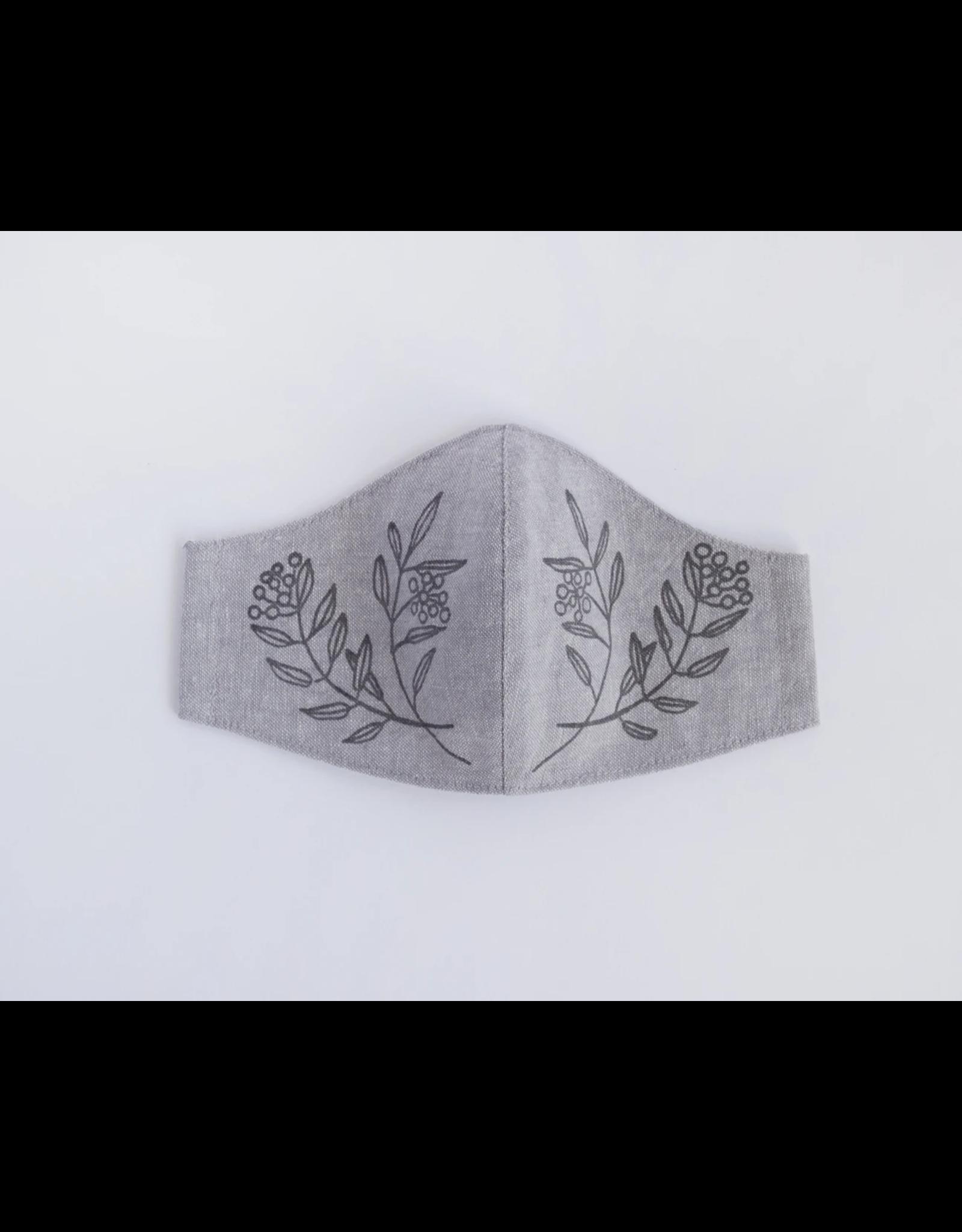Handmade Linen Mask - Sprig