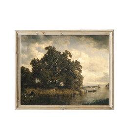 Vintage Print - Landscape in Oil