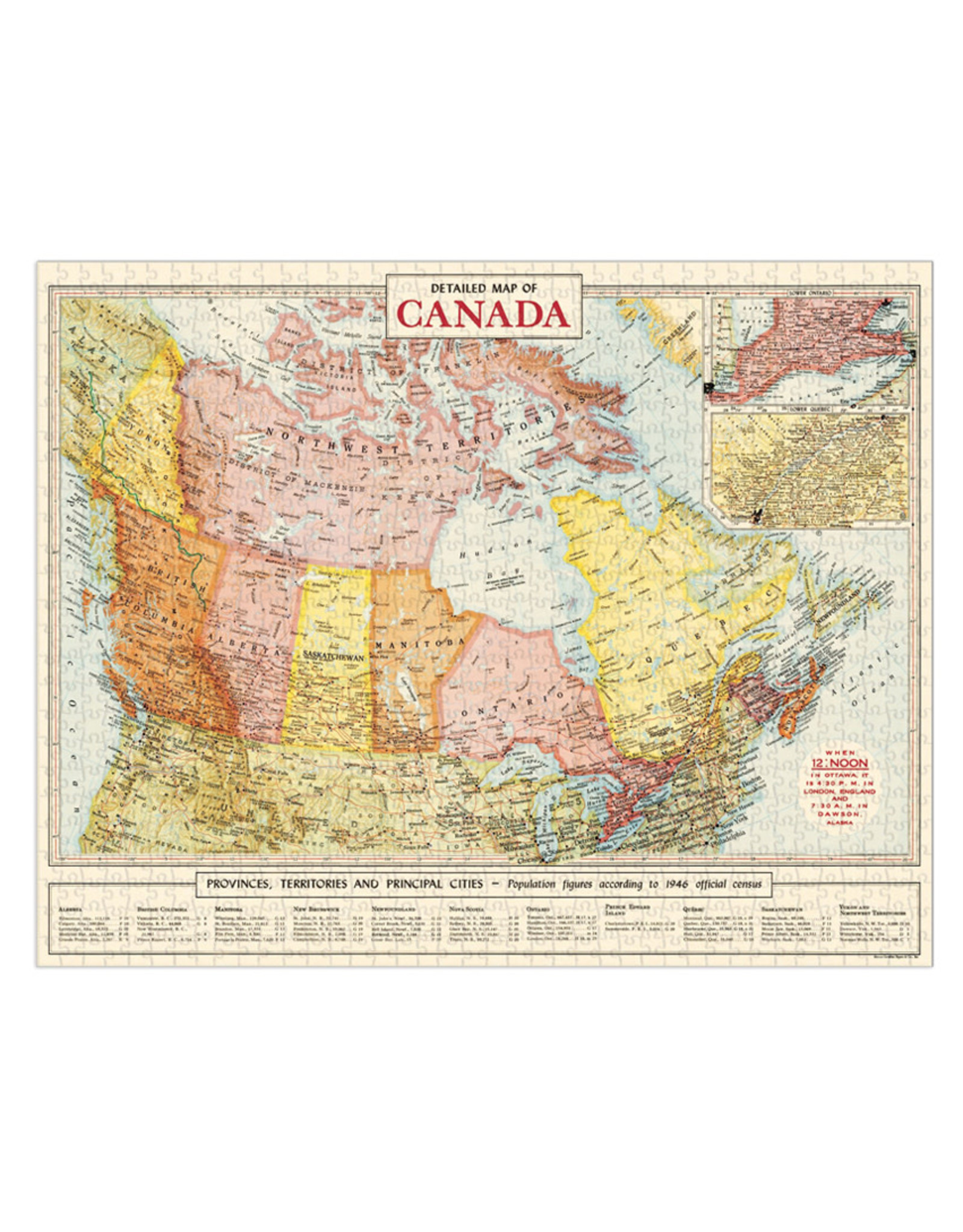 1,000 Piece Puzzle - Map of Canada