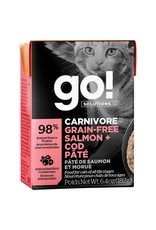 Petcurean GO! Carnivore Salmon & Cod Pate [CAT] 6.4OZ